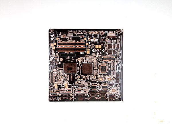 六层咖啡色通孔板